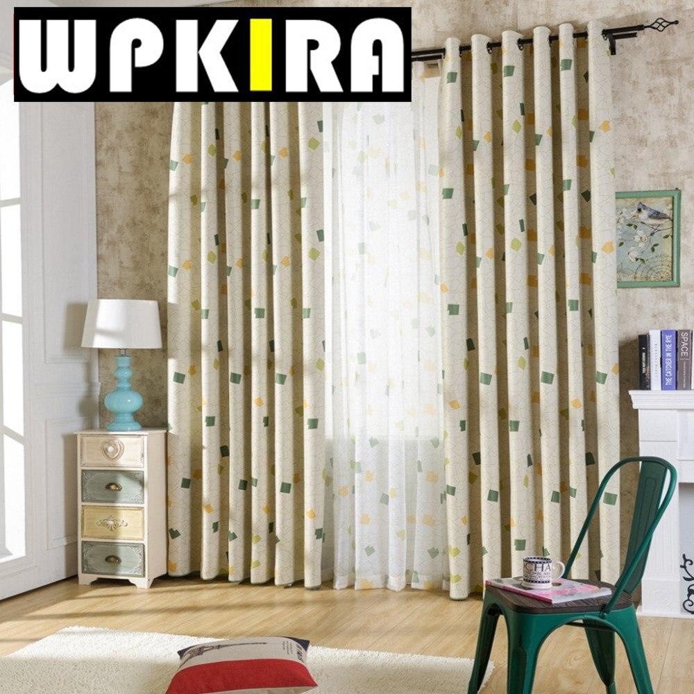 modernas cortinas de voile impresin elegante fresca cortinas a cuadros para nios dormitorio cortinas nios carpas