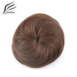 1 шт. jeedou Q3 синтетический Высокая Температура волокна прямые волосы Chignon Клип В пучок волос Donut ролика шиньоны светлые Цвет
