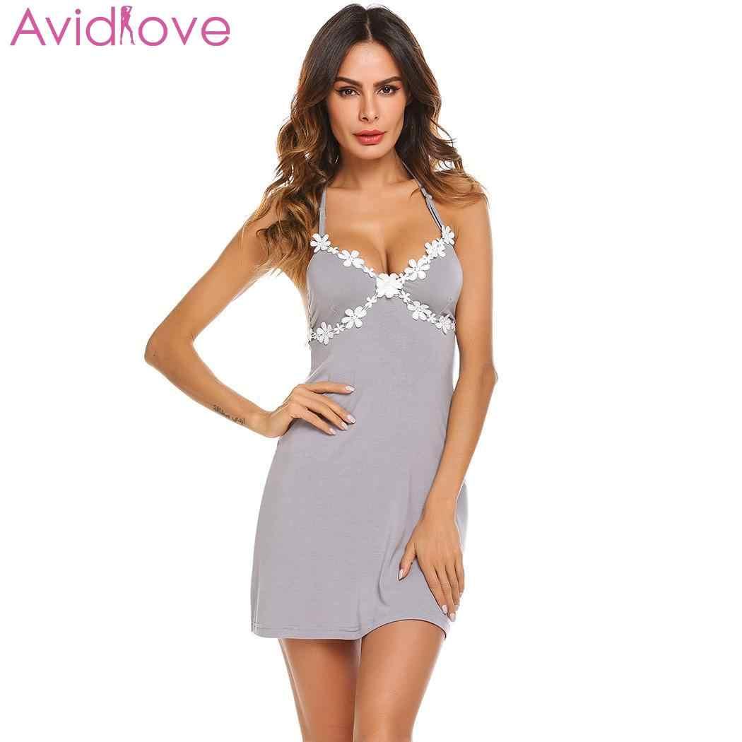432d0336e80 Avidlove Women Nightgown Nighty Night Dress Nightwear Sexy Nightie ...