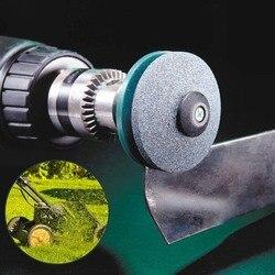 50MM Faster Lawn Mower Sharpener Lawnmower Blade Sharpener Universal Grinding Rotary Drill Cuts Точилка для лезвий газонокосилки