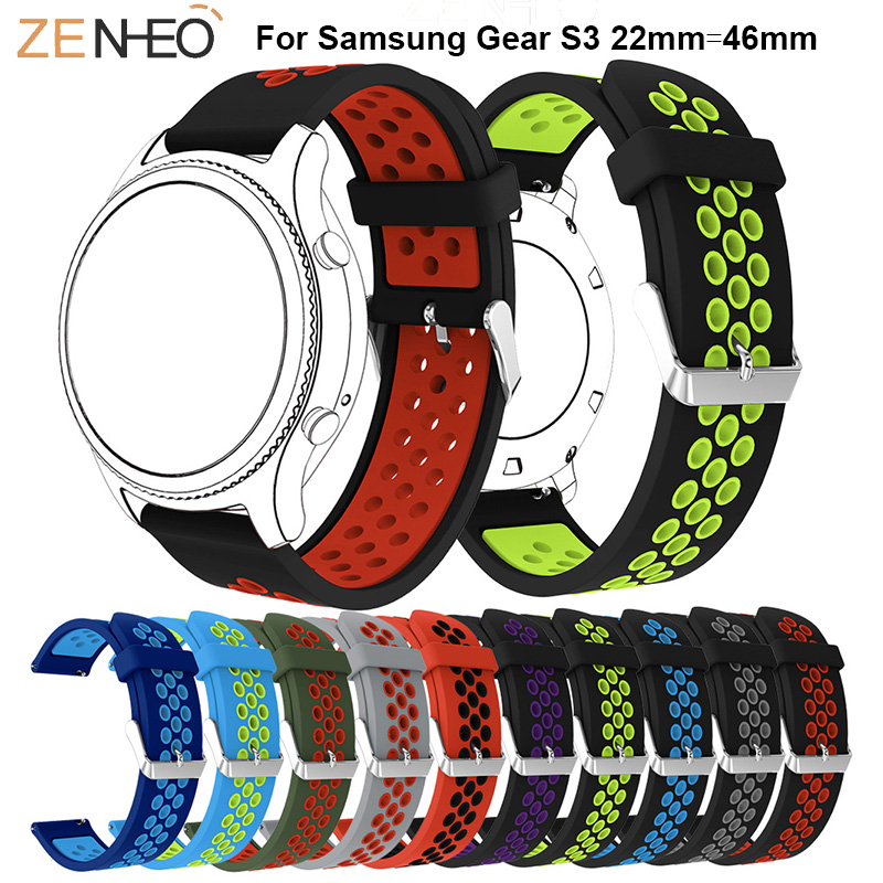 Silicone Band For Samsung Gear S3 Frontier/Classic 22mm Watch Strap Replace Bracelet For Samsung Galaxy Watch 46mm Wristband