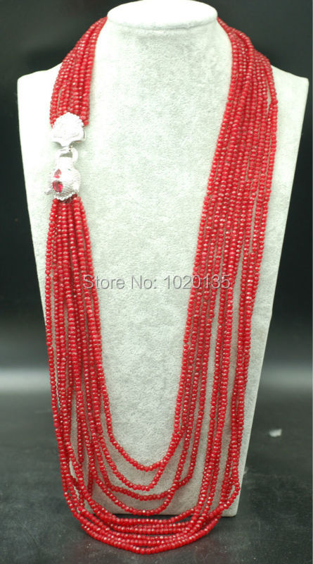 10rows red jade  roundel faceted 4*2mm long  necklace 28-36inch wholesale beads nature leopard zirconclasp gift discount FPPJ 10rows red jade  roundel faceted 4*2mm long  necklace 28-36inch wholesale beads nature leopard zirconclasp gift discount FPPJ