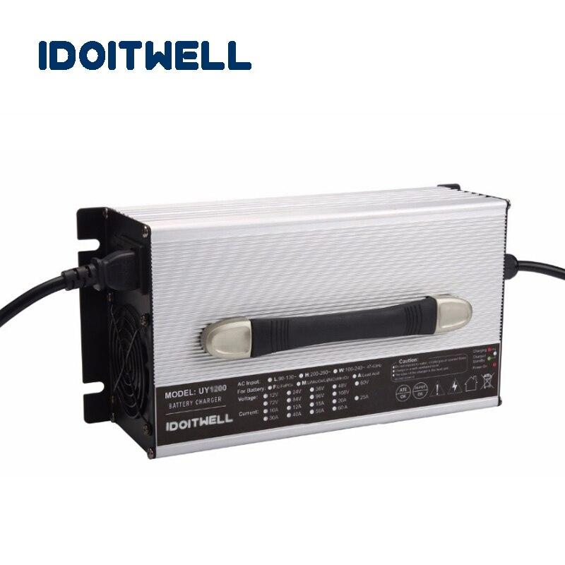 Personalizado 84V 20A poder carregador de bateria automático profissional 84 volt carregador para bateria de chumbo ácido bateria de iões de lítio lifepo4