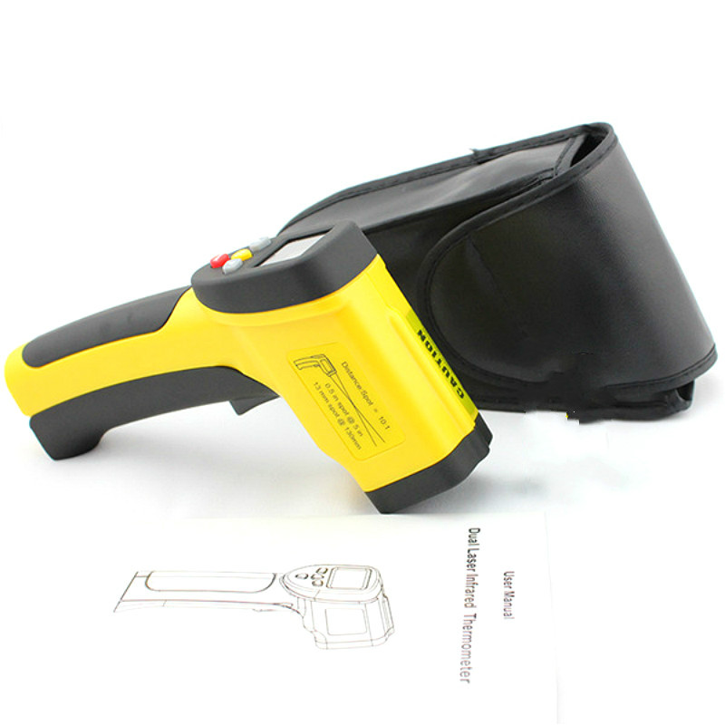 Dual Laser Infrared Thermometer Digital -50~850 Degrees Celsius Pyrometer Portable Handheld High Temperature Tester dc12v 24v digital meter 20 100 degrees celsius thermometer dual display temperature meter for car water air indoor outdoor etc