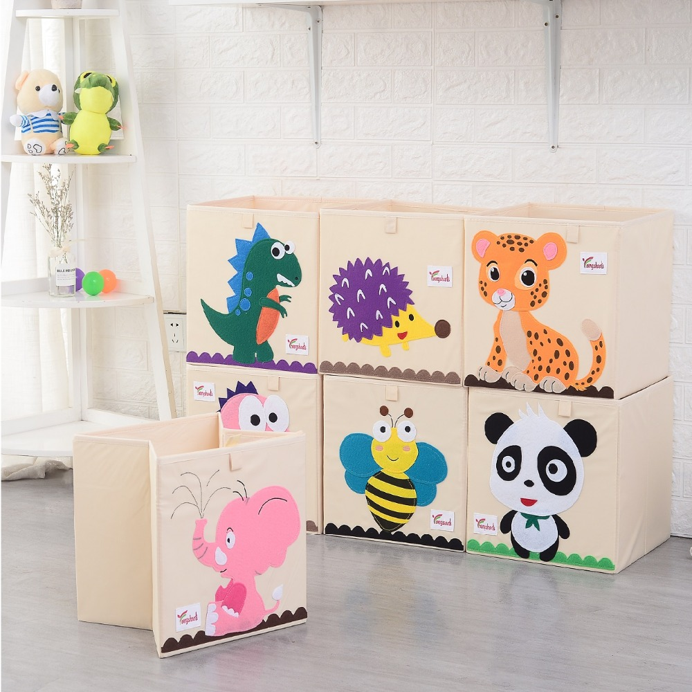 Cute Animal Collapsible Toy Storage Organizer Folding: New 3D Toy Storage Box Cartoon Animal Folding Storage Bins
