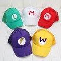 5 шт./компл. Super Mario Bros Hat Луиджи Марио Косплей Костюм Hat Cap 5 цвета плюшевые игрушки