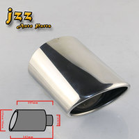 JZZ AKRAPOVIC EXHAUST TIP 3 INCH HIGH QUALITY STAINLESS STELL PIPE CAR PIPE CAR MUFFLER EXHAUST