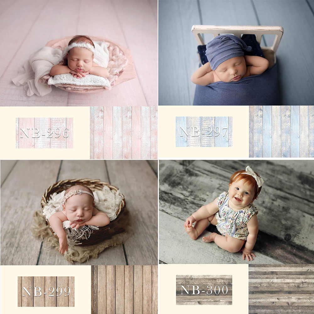 Noworodka tło dla fotografii Baby Shower Birthday Party podłogi z drewna zdjęcie tło dla dzieci portret Backdrops Studio
