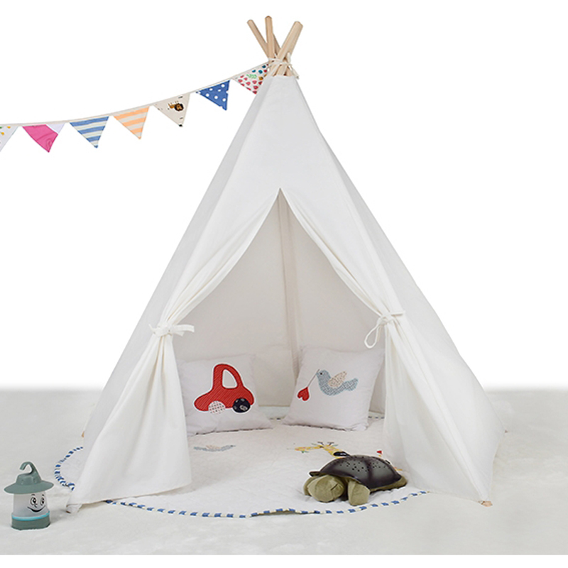pink teepee kid play tent white fabric teepee children bed tent indoor and outdoor-in Toy Tents from Toys u0026 Hobbies on Aliexpress.com | Alibaba Group  sc 1 st  AliExpress.com & pink teepee kid play tent white fabric teepee children bed tent ...