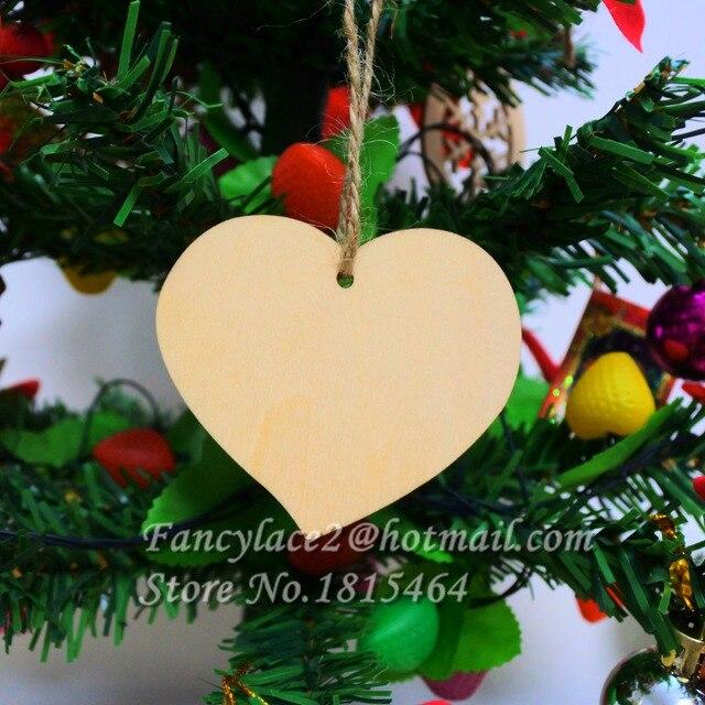 60pcs Wish Card Love Ring Wood Tag Tree Decoration Valentine S Day