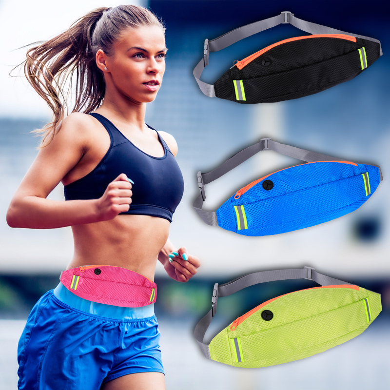6.0 Waterproof Sport Gym Running Waist Belt Pack Phone Case Fitness Zipper Bag Armband For Iphone X 8 7 5 6 6s 7 Plus Samsung S9 Mobile Phone Accessories