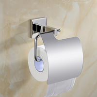 Silver Modern SUS 304 Stainless Steel Toilet Paper Box Roll Rolder Tissue Box Bathroom Accessories Toilet