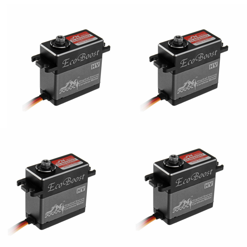 4PCS JX Ecoboost CLS6322HV 21KG Large Torque 180 Degree CNC Aluminium Shell Metal Gear Digital Servo For RC Airplane Helicopter