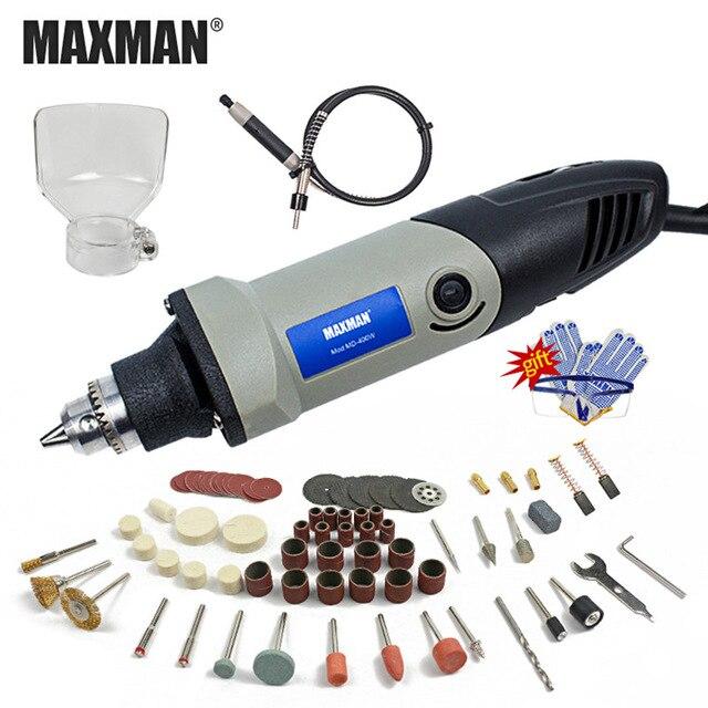 MAXMAN 400 W Mini taladro eléctrico con 6 posiciones velocidad Variable Dremel molinillo estilo herramientas rotativas Mini herramientas eléctricas de molienda