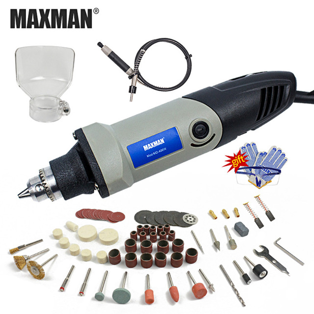 MAXMAN 400W Mini Electric Drill With 6 Position Variable Speed Dremel Grinder Style Rotary Tools Mini Grinding Power Tools
