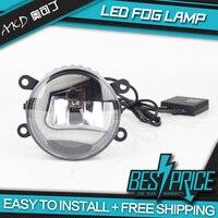 AKD Car LED Fog Lamp for Peugeot 206 Light Shape C LED DRL light bar Energy saving Cob Low Beam Daytime light Assembly