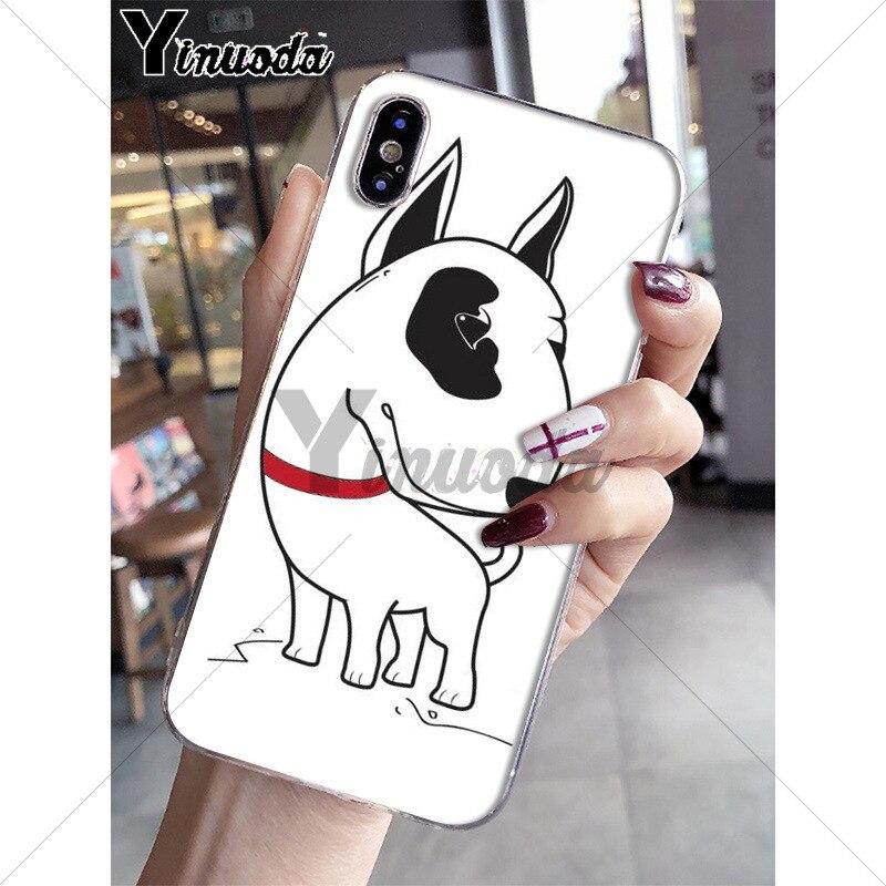Yinuoda bullterrier bull terrier dog Novelty Fundas Phone Case Cover for iPhone X XS MAX 6 6S 7 7plus 8 8Plus 5 5S XR