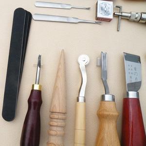 Image 5 - 18 יח\סט עור קרפט אגרוף כלים ערכת תפרים גילוף עבודה תפירת אוכף גיץ כלי
