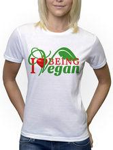 I LOVE BEING VEGAN women's shirt / girlie