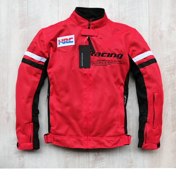 Motorcycle Dirt Bike Summer Mesh Riding For Honda Men's Jacket With Protection Red Sports Jackets