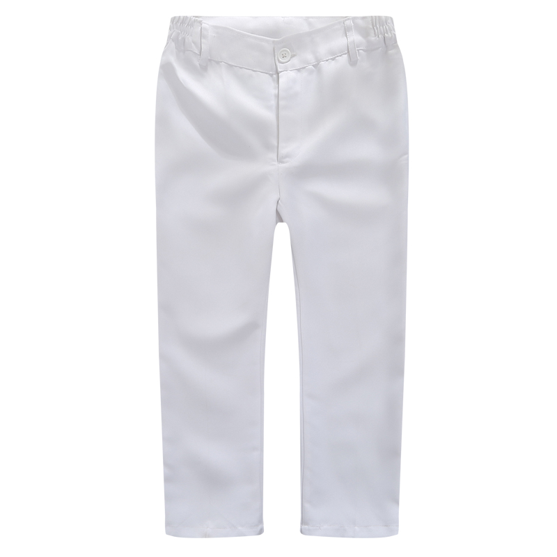 Image 5 - Boys Trousers Chorus Clothing Pure White/Black Students Recital Contest Straight Pants Boys Comfortable Latin Dance TrousersPants   -