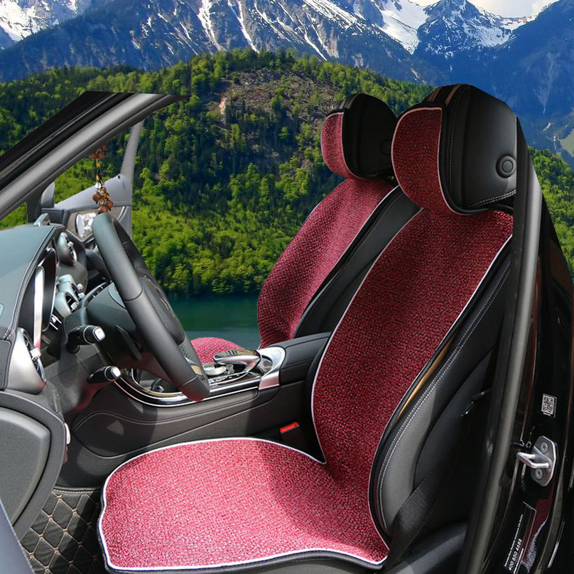 Купить с кэшбэком 1 piece Universal Front Car Seat Cover Mat Artificial linen Auto Seat Cushion covers in The Car fit Most Cars Truck Suv or Van