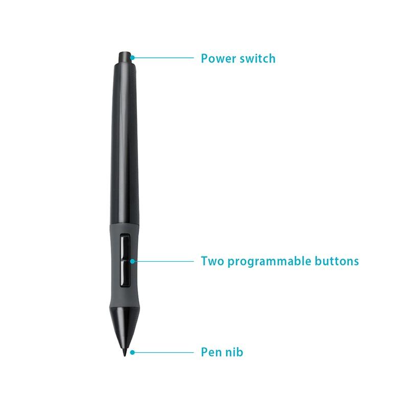 HUION PEN68 Graphic Tablets Pen Digital Pen Touch Screen Stylus Battery Pen Black--P68 6