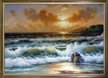 Hand-painted Painting ocean sea oil painting on canvas high quality
