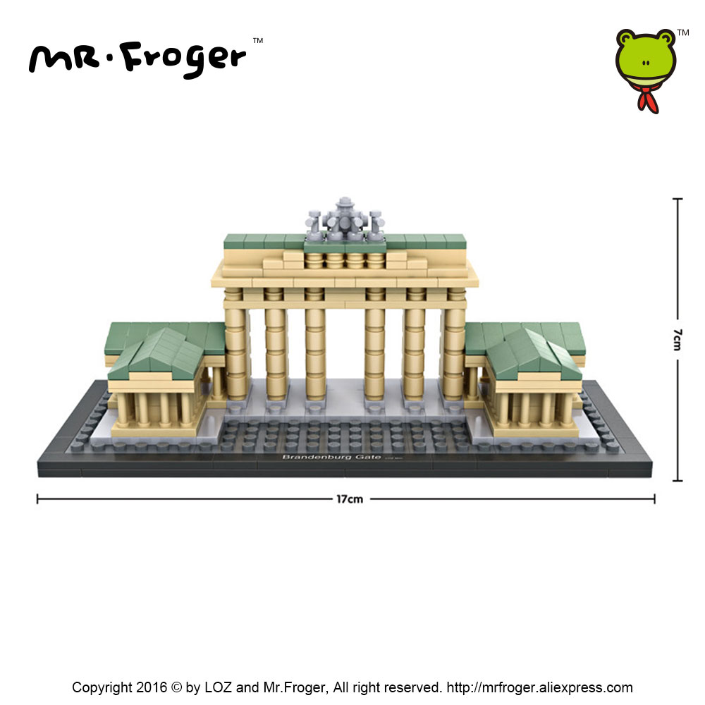 Mr.Froger LOZ Toys Brandenburg Gate Model Mini Architecture Blocks Building Bricks Creative Designs Toys For Kids Children DIY