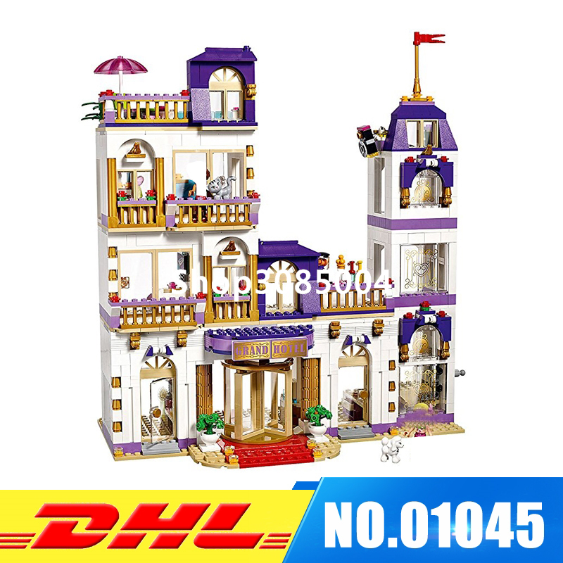 DHL IN Stock LEPIN 01045 1676Pcs PCS Girl Heartlake Grand Hotel 41101 Popular Kids Toy Model Building Kits Blocks Girl Gift lepin 01045 1676pcs girls series heartlake grand hotel set children eucational building blocks bricks toys model gift 41101