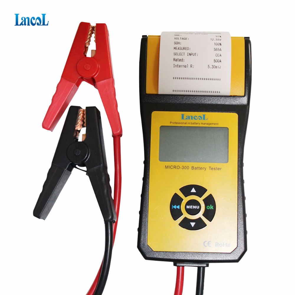 Lancol Micro300 Diagnostic Tool Car Battery Tester Built in Printer Automobile Battery Analyzer Detect Battery Health