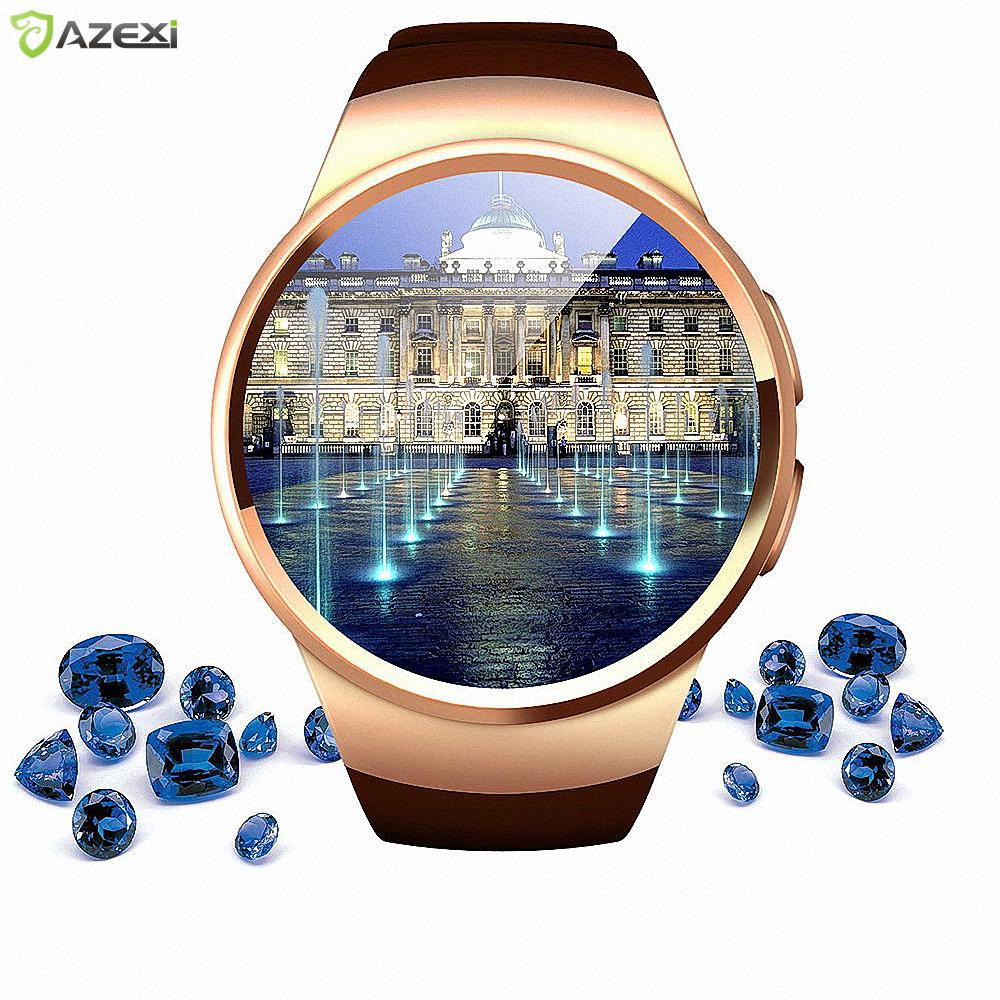Prix pour KW18 Pulse Moniteur de Fréquence Cardiaque Smart Watch Android/IOS Femmes Hommes Smartwatch Bluetooth Reloje SIM Carte pour sumsang s2 sony iphone