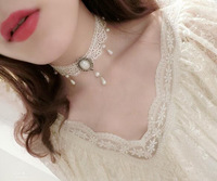 collares mujer cortos white Velvet Choker Necklace for Women Statement Necklaces & Pendants Bijoux Femme Collier Jewelry