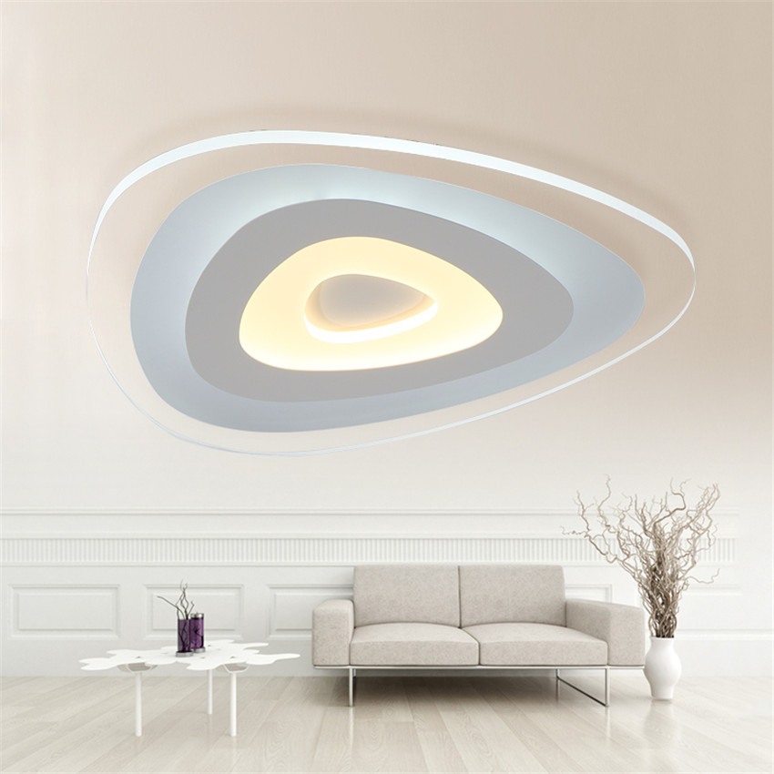 Modern Ultrathin Led Ceiling Light, Remote Control Luminarias White Led Ceiling Lamp Kuminarias Sara Teto Lamps for Living Room