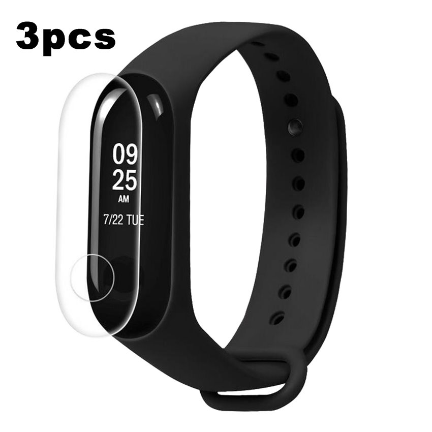 3pcs Protector For Miband3 Mi Band 3 HD Ultra Thin Anti-scratch Screen Protective Film For Xiaomi Mi Band 3 Band3 Screen