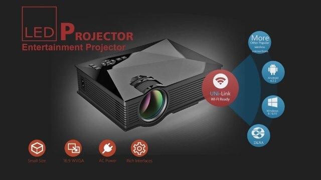 2016 New UNIC UC40 Upgrade UC46 Full HD1080p Mini LCD WIFI portable Projector Theater Multimedia Video Projectors USB AV HDMI