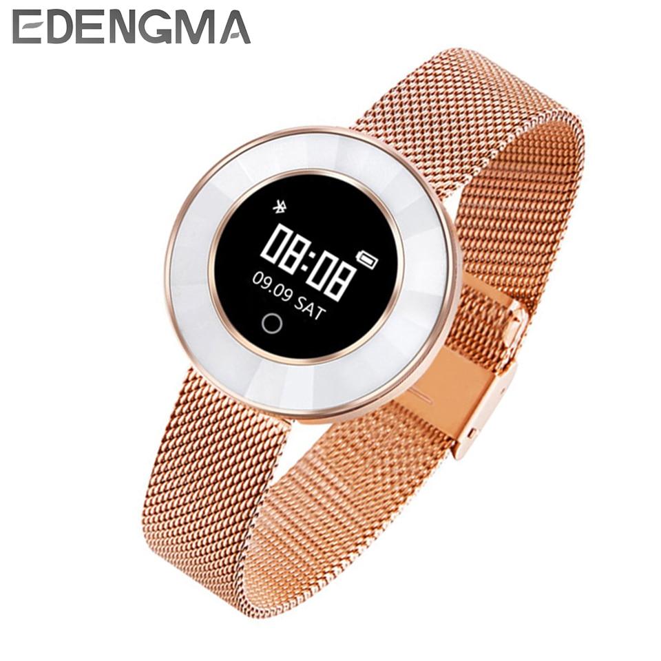 EDENGMA Fitness pulsera inteligente X6 Monitor de sueño deporte modo calorías podómetro Yoga modo Fitness pulsera para las mujeres rastreador/regalo