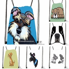 Custom Bathe Schnauzer Step Drawstring Backpack Bag Cute Daypack Kids Satchel (Black Back) 31x40cm#180531-03-34