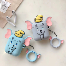 Cartoon elephant Earphone soft silicone case for Airpods case protective cover Bluetooth Wireless Case Charging Box case bag