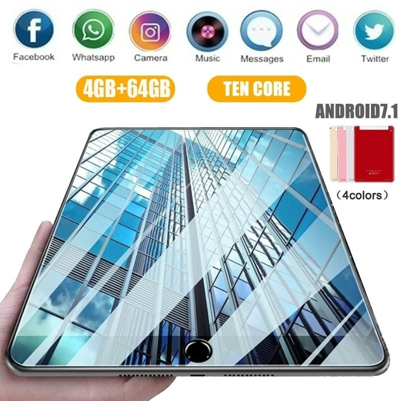 Dower Me 2019 WiFi Tablet PC 10 Inch Tablet Ten Core 4G+16G/32G/64G Android 7.1 Dual SIM Dual Camera