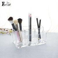 Pincéis de Maquiagem de Acrílico cristal caixa de Cosméticos Organizador Caixa de caneta Claro Caso de Exposição Cosmética Stand Titular Rack Organizer