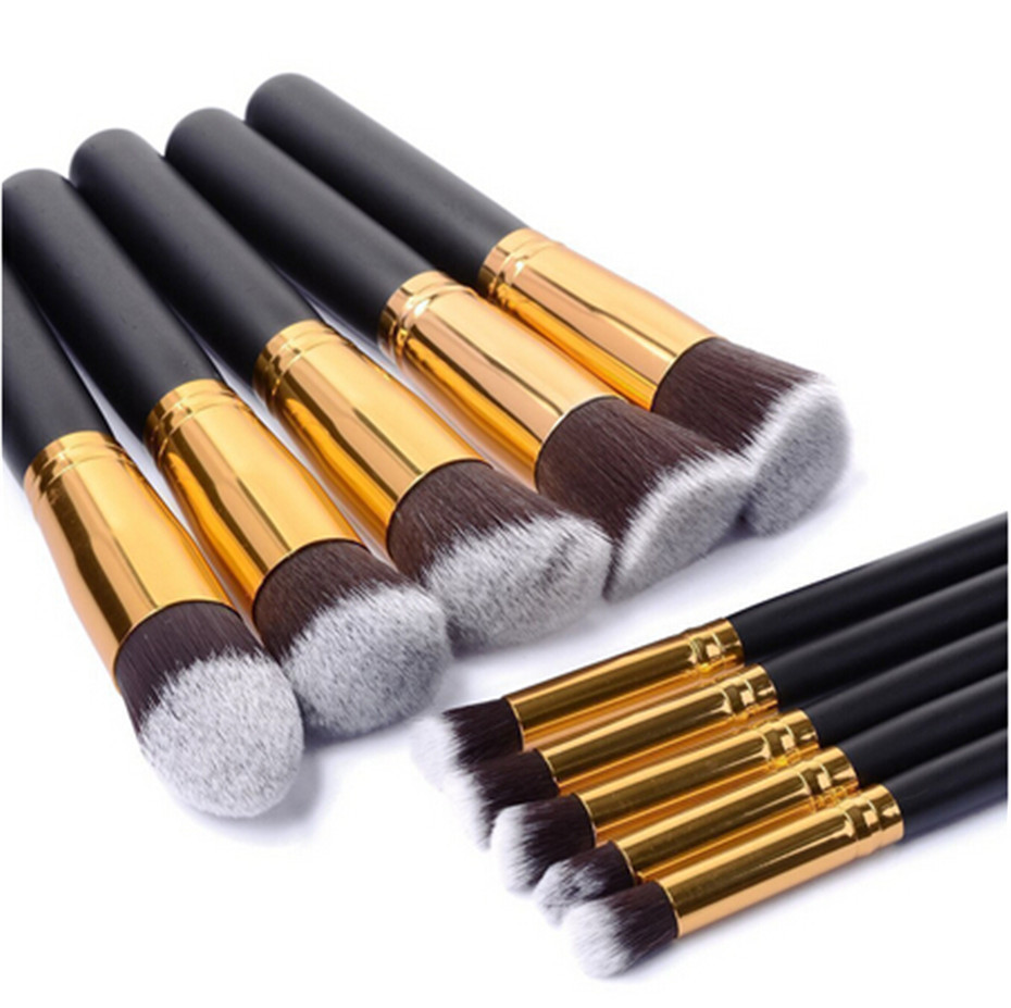 10 Pcs/set High Professional Make Up Brushes Women Practical Cosmetics Brush Soft Cosmetic Makeup Brushes Toiletry Set free shipping durable 32pcs soft makeup brushes professional cosmetic make up brush set