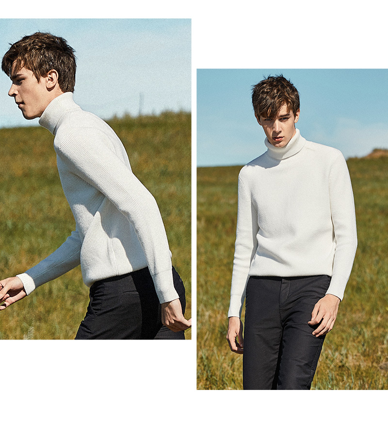 SEMIR Winter Warm Turtleneck Sweater Men Double Collar Fashion Solid Knitted Mens Sweaters 18 Casual Male Slim Fit Pullover 4