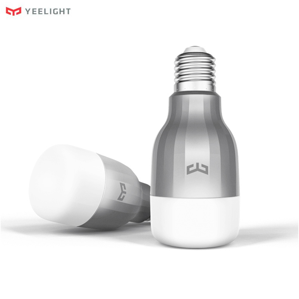 Original Xiao mi Yeelight LED Bombilla inteligente 16 mi llones colores RGB E27 9 W 600LM Dim mi ng Luz wiFi mi casa inteligente APP Control remoto