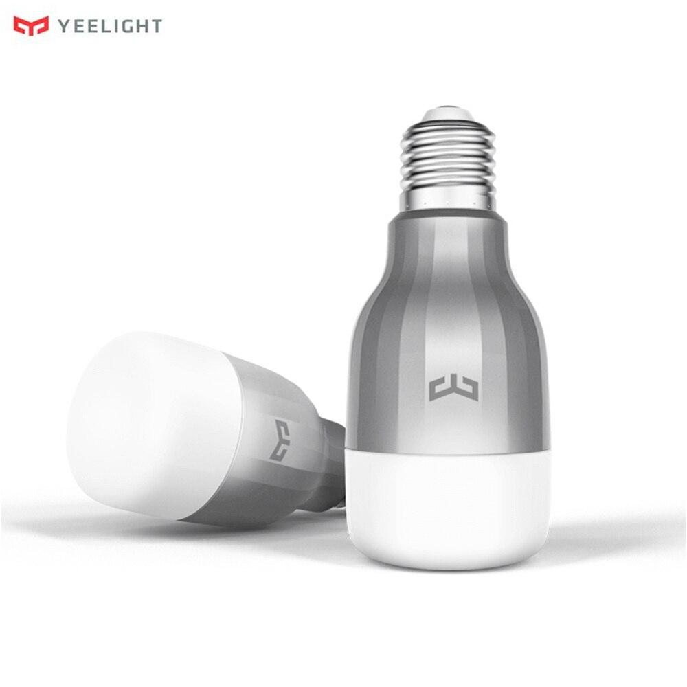 Original Xiao mi Yeelight LED Intelligente Birne 16 mi llion Farben RGB E27 9 watt 600LM Dim mi ng Licht wiFi mi Smart Home APP Fernbedienung