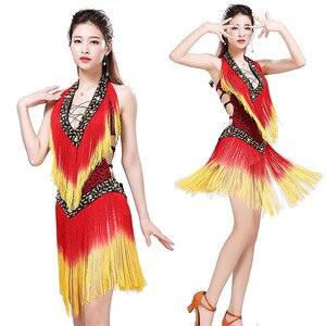 Image 3 - 2019 New Style Sexy Dress for Latin Ballroom Tassel Latin Competition Dress Salsa Performance Rumba Samba Tango Dance Dress