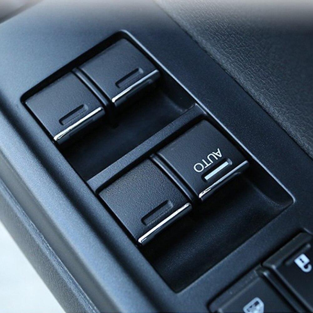 Image 5 - 7 Uds de acero inoxidable para Honda CRV CR V ajuste City Accord ventana elevador botones lentejuelas pegatina-in Pegatinas de coche from Automóviles y motocicletas on AliExpress