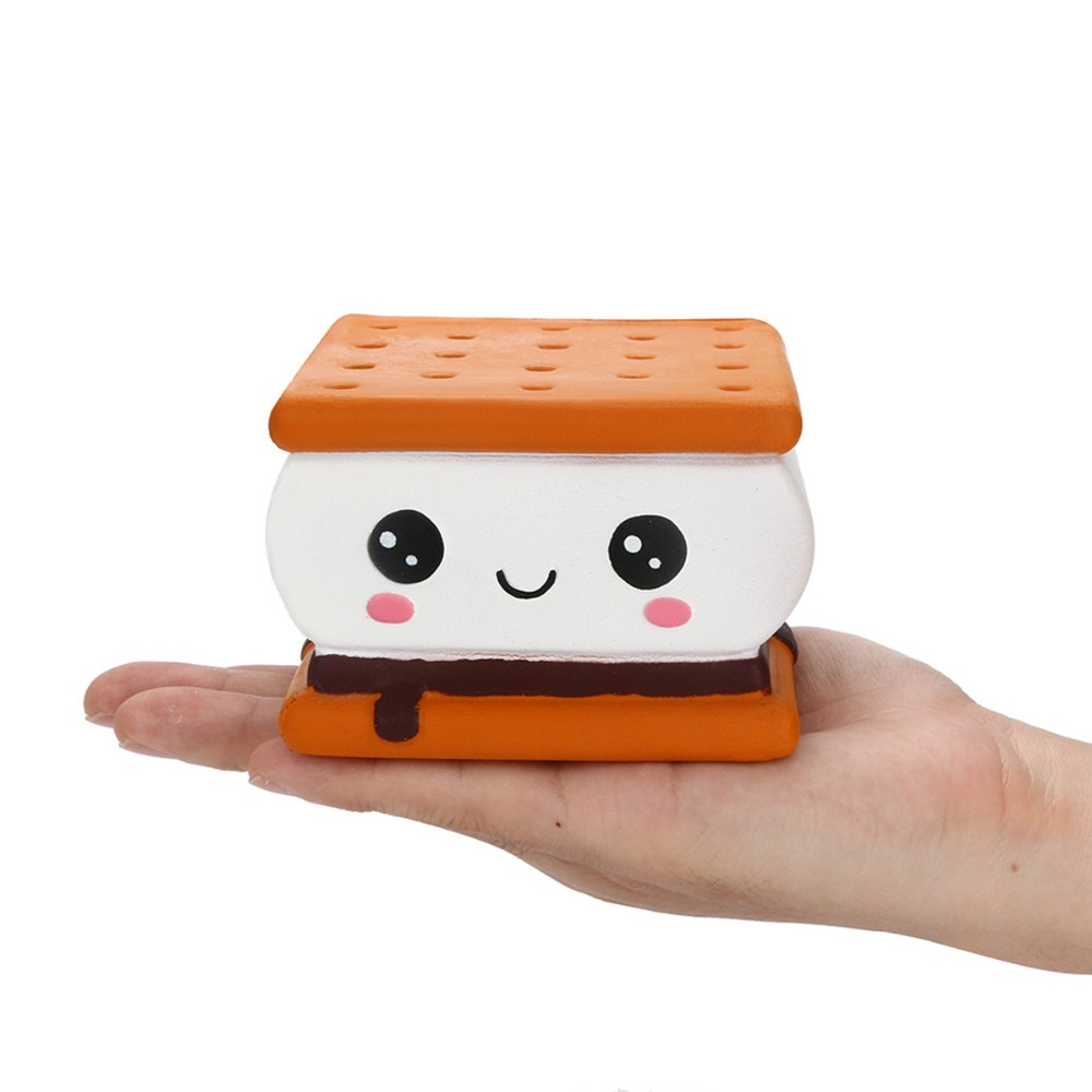 PU Slow Rising Squeezing Cream Sandwich Biscuits Toy Squishy Scented Cookies Decor Release Stress Gadgets Adults Toys