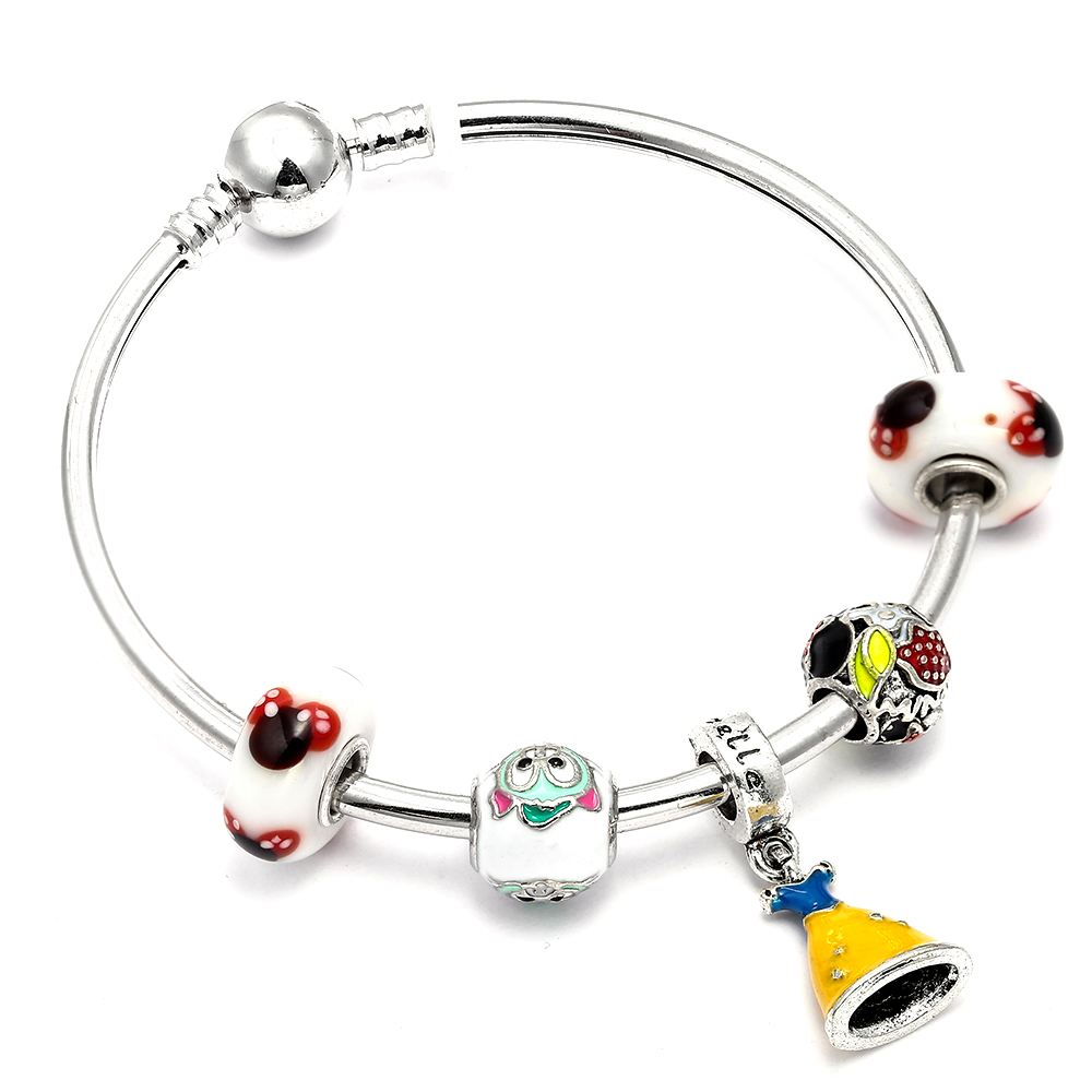 Cute Cartoon Mickey Minnie Charms Murano Beads Fits European Pandora Bracelets & Bangles Pendant DIY Jewelry Gift