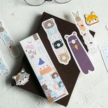 6 set/Lot Funny forest life for books Cartoon cat bear fox book mark post card Kawaii Stationery School supplies FC838